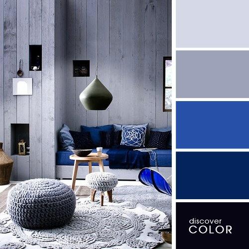 20 exquisitas combinaciones de colores para un hogar for Cuarto azul con gris