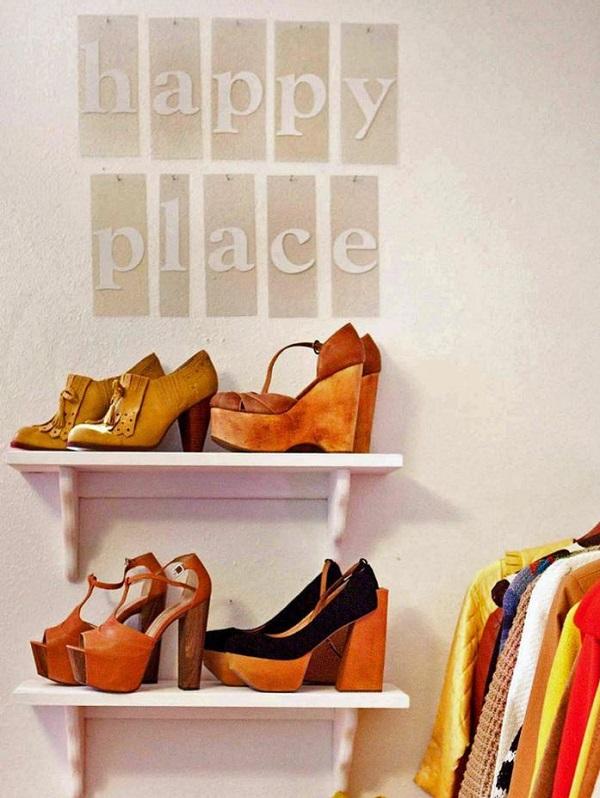 24 ideas para guardar los zapatos - Zapatero de tela para colgar ...