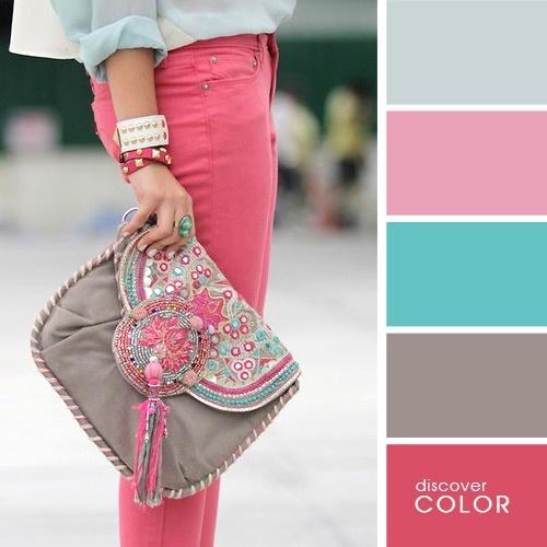 Formas de combinar colores en tu vestimenta - Colores que combinan con rosa ...