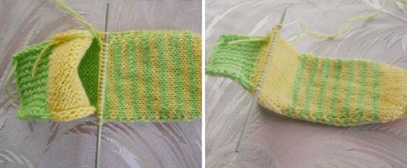 Tejer calcetines con dos agujas