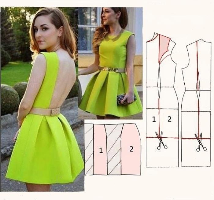Como hacer vestidos de dama sencillos