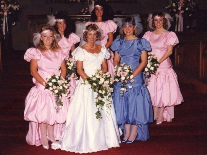 Vestidos de dama de honor ridiculos