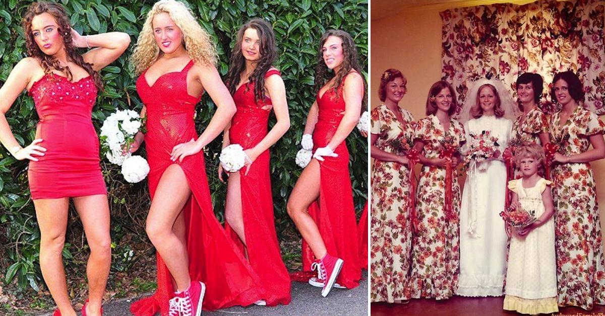 Vestidos ridículos de damas de honor